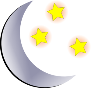 Moon and stars clipart free.
