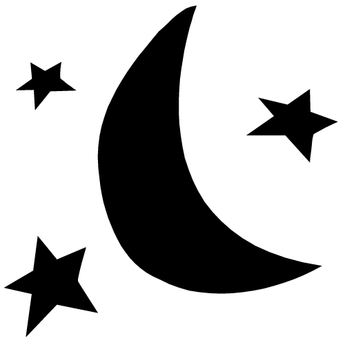 Crescent Moon And Star Clipart.