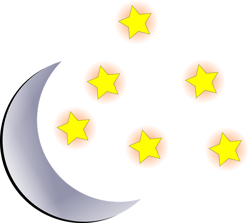 Free vector graphic: Moon, Stars, Sky, Cosmo, Night, Day.