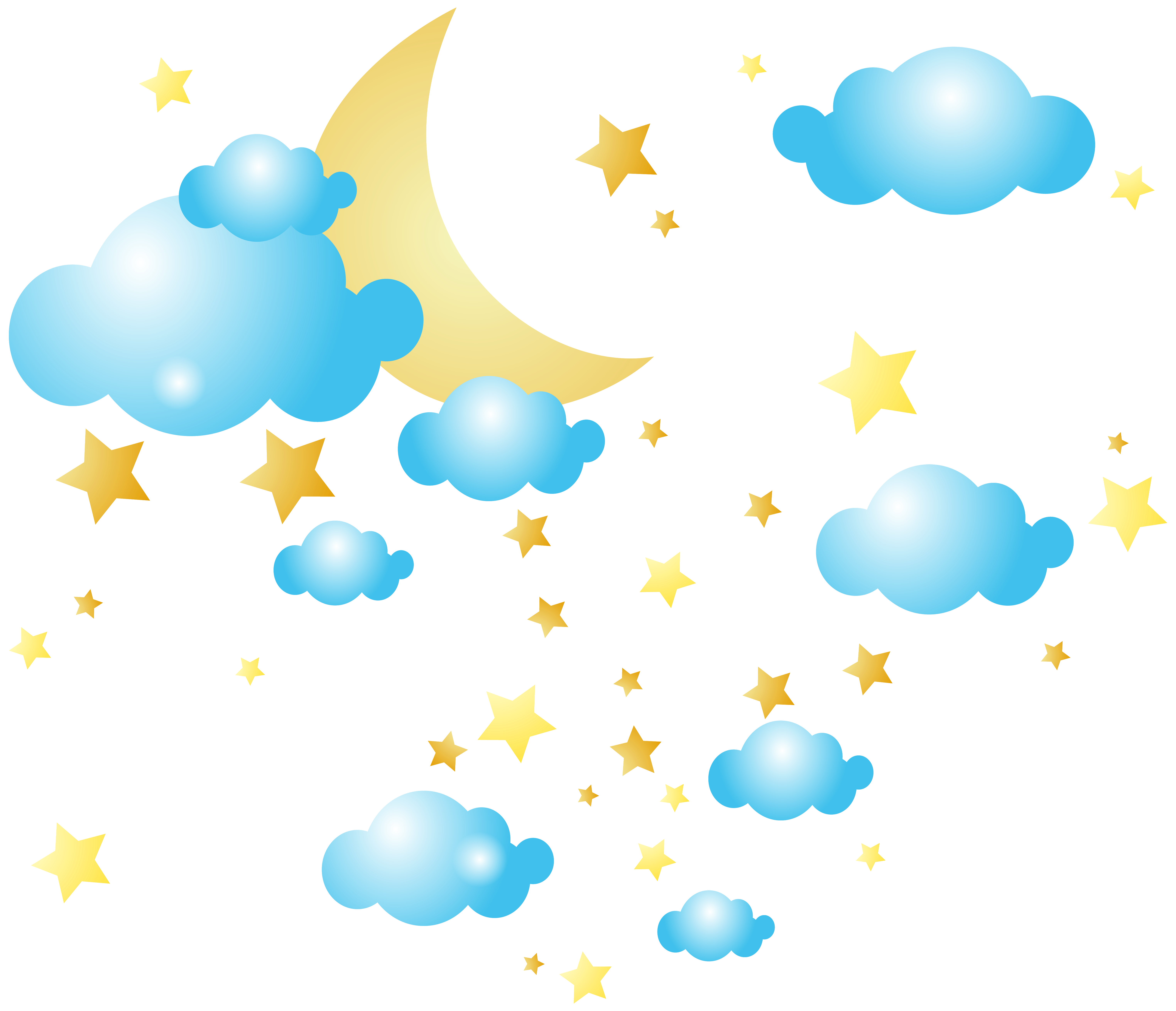 Moon And Stars Clipart Png.