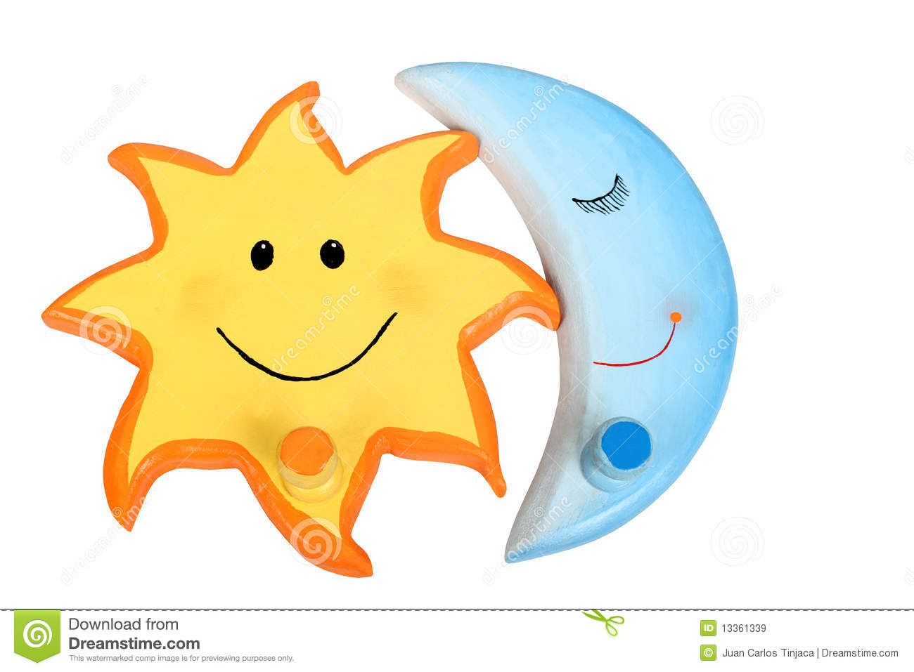 Sun and Moon stock image. Image of blue, clipart, summer.