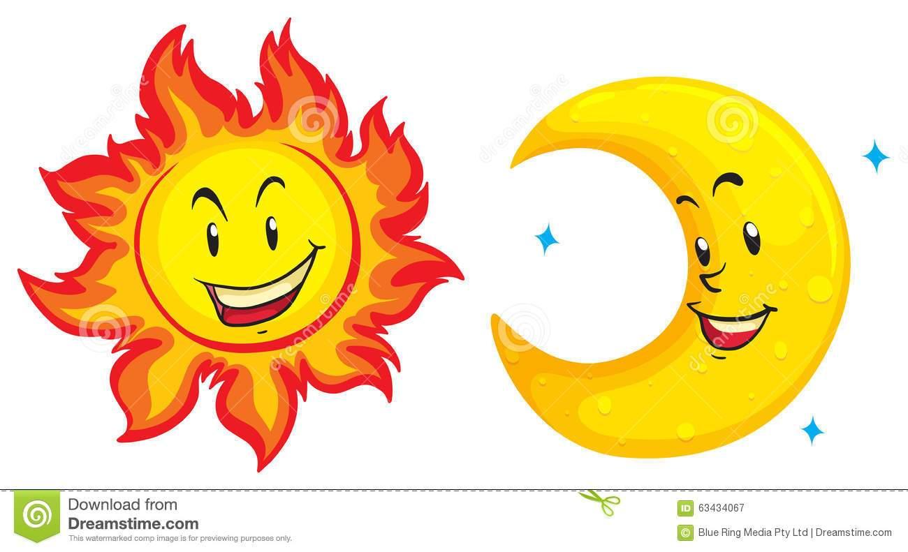 Moon and sun clipart 6 » Clipart Portal.