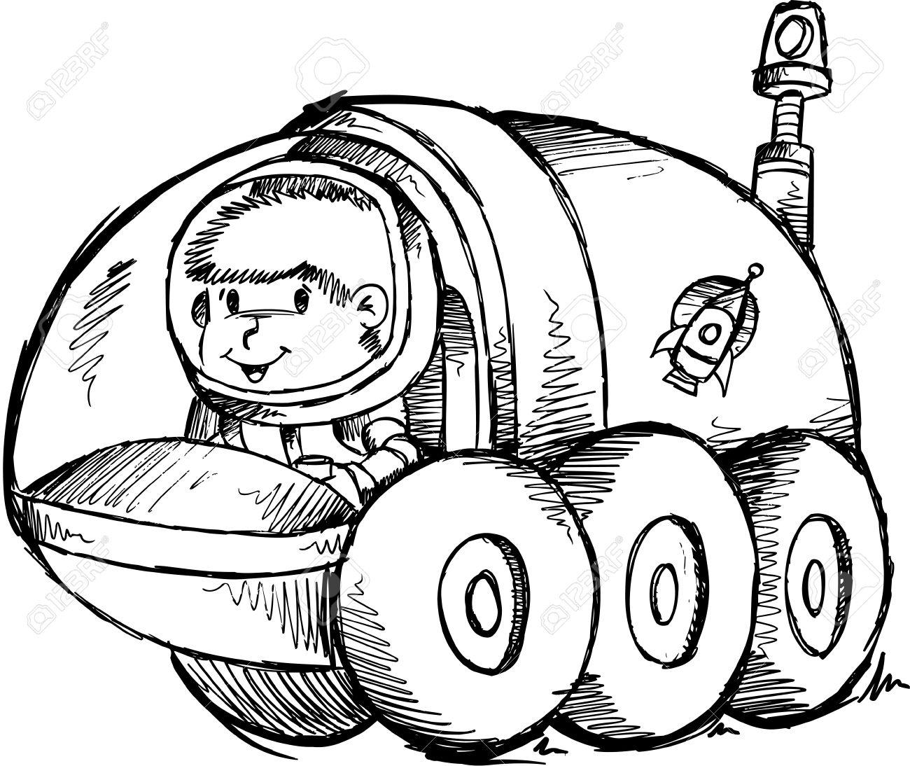 Moon buggy clipart.