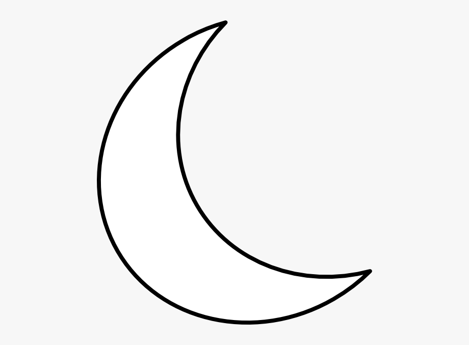 Moon Shape Clipart 24,26kb Download.