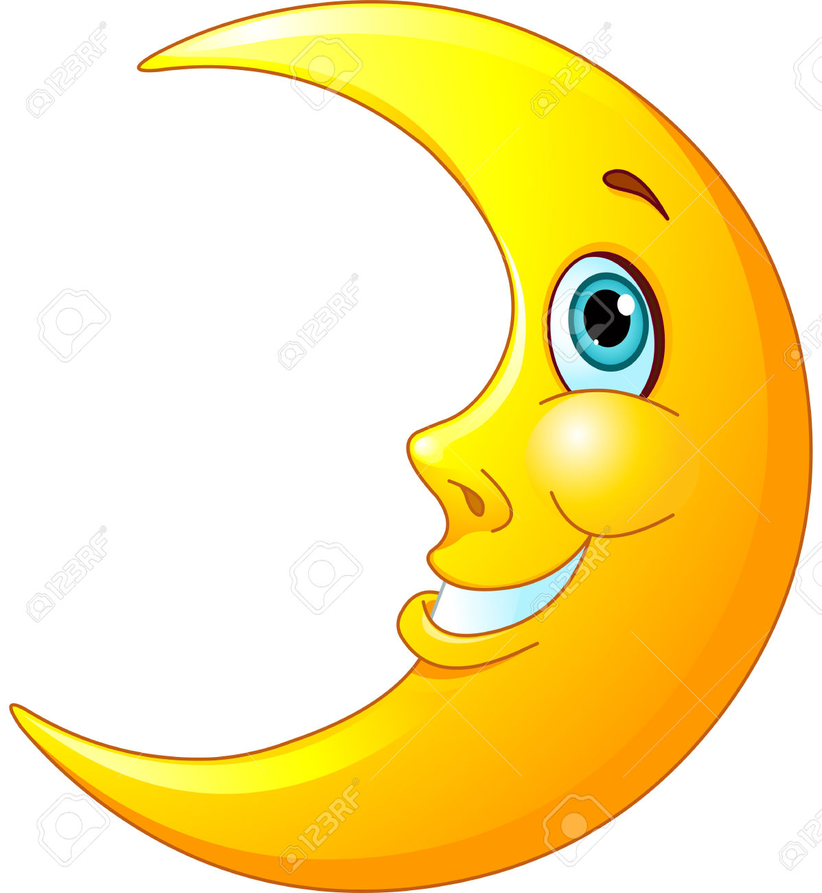 Smiling Moon Clipart.