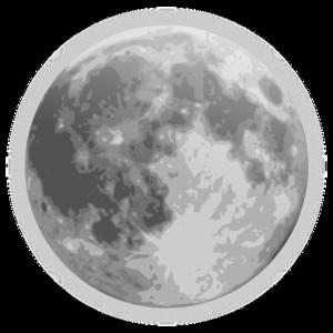 Full Moon Icon Clip Art at Clker.com.