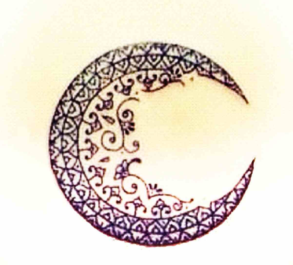 crescent moon drawing tumblr.