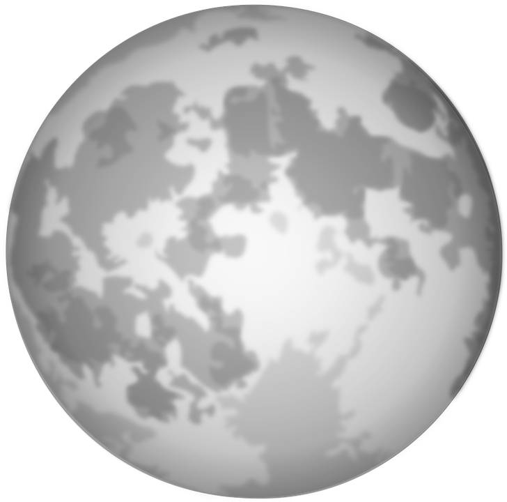Free vector graphic: Full Moon, Moon, Lunar, Night.