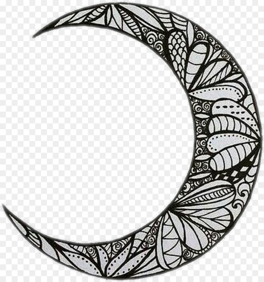 Crescent Moon Drawing png download.
