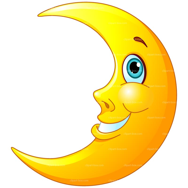 CLIPART SMILING MOON.