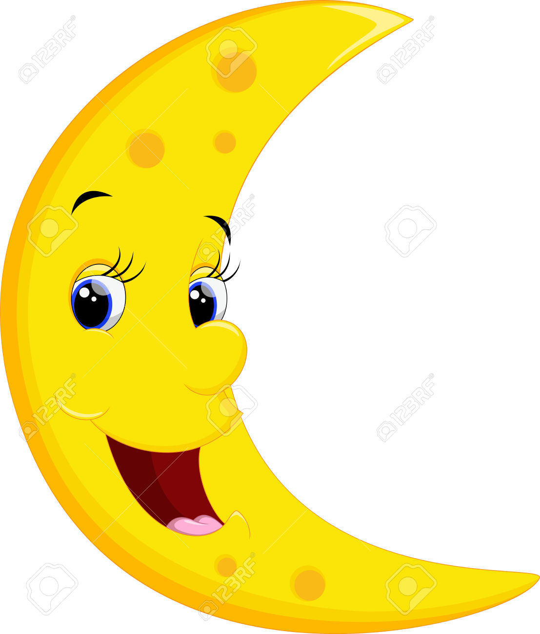 4,884 Moon Face Stock Vector Illustration And Royalty Free Moon.