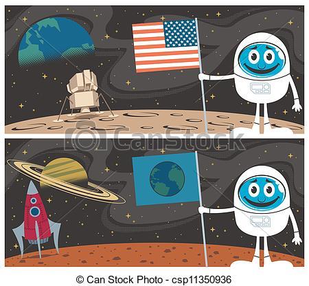 Vectors of Space Scenes.