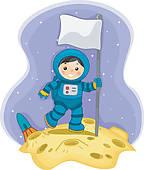 Stock Illustrations of Moon Landing k3984950.