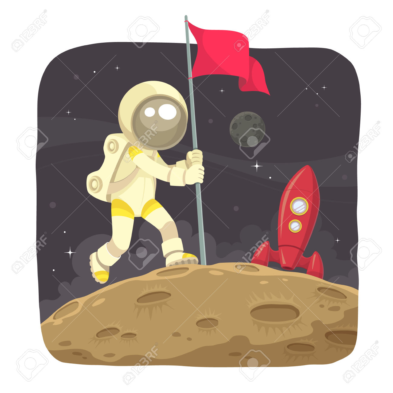 Moon Landing Clipart.