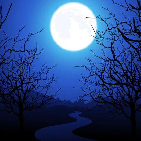 Moonlight Clip Art, Vector Moonlight.