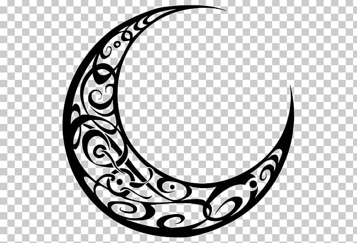 Crescent Moon Logo PNG, Clipart, Black And White, Body.