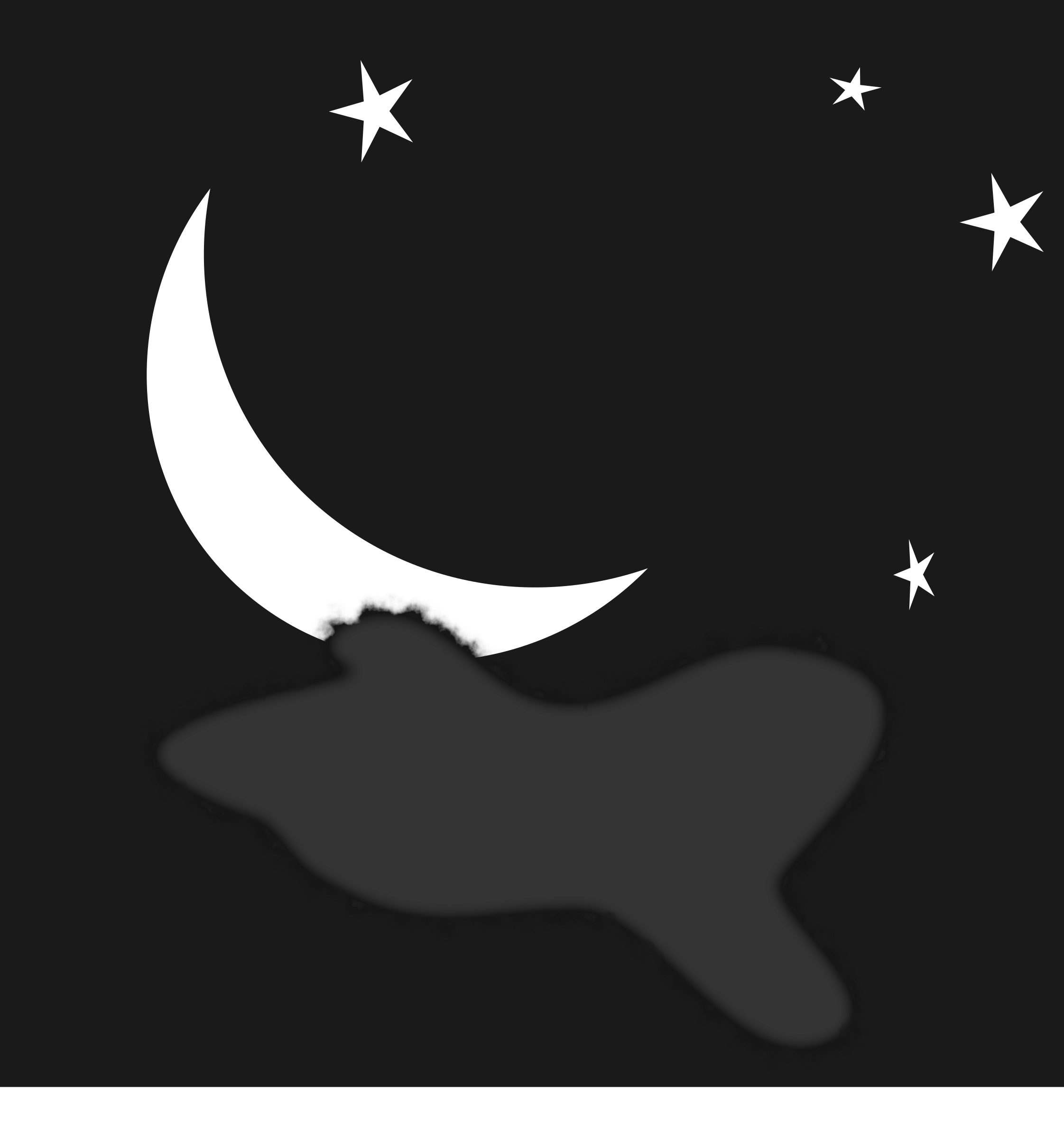 Beautiful Night Moon Clipart.