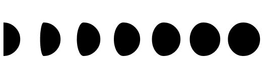 Cliparts of the Moon Phases.