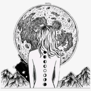 luna #girl #galaxy #blackandwhite #black & White #black.