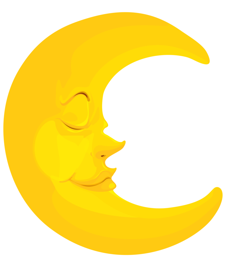 Download Free png Half Moon PNG Clipart.