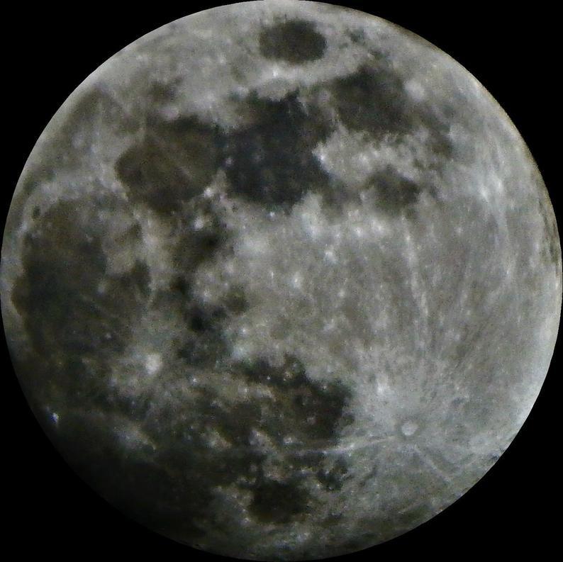 Full Moon PNG File Digital Download.