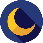 Crescent Moon Moon PNG Icon.