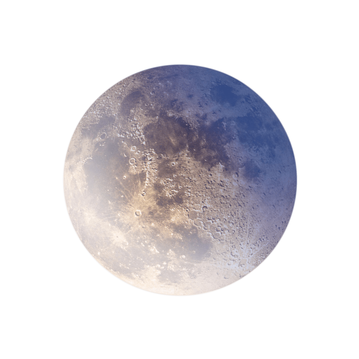Colourful Moon transparent PNG.