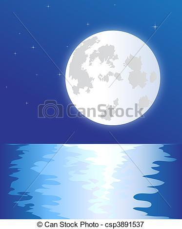 Vectors Illustration of Full moon.
