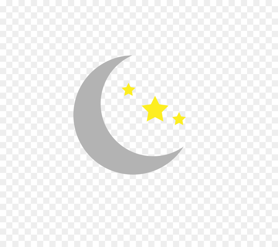 Moon And Stars png download.