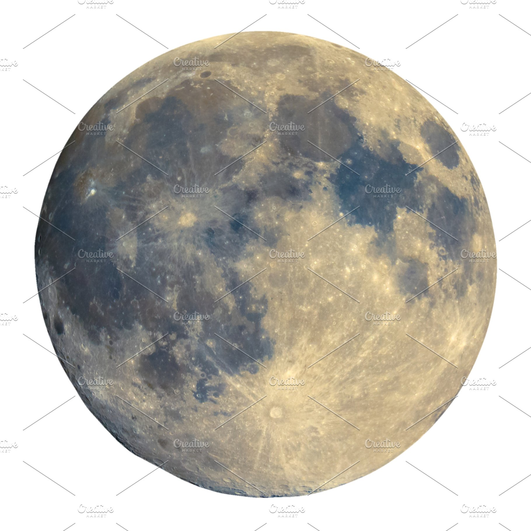 Full moon transparent PNG.