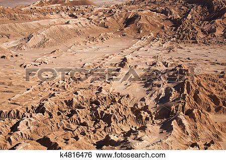 Stock Images of Valle de la Luna (Moon Valley) close to San Pedro.