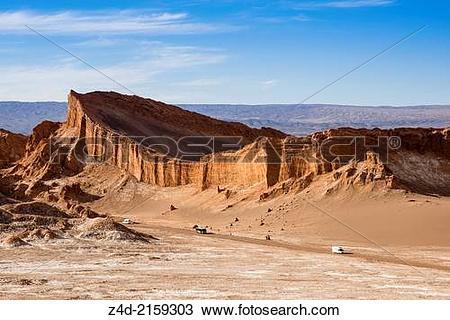 Stock Photo of Atacama amphitheatre in Moon Valley. z4d.