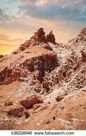 Stock Images of Valle de la Luna (Moon Valley) k36228946.