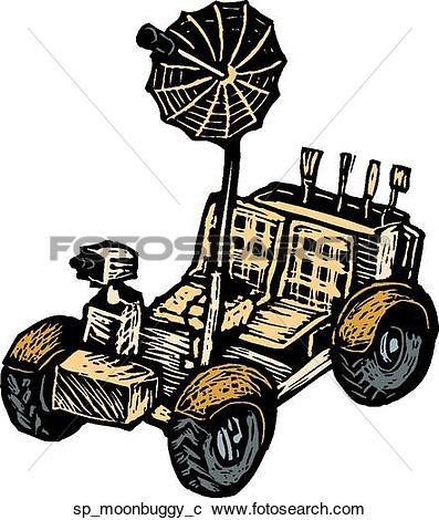 Clipart of Moon Buggy sp_moonbuggy_c.