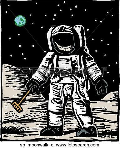 Clipart of Moon Walk sp_moonwalk_c.