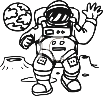 Moon Landing Clip Art.
