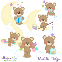 Stardust & Moonbeams SVG Cutting Files + Clipart.