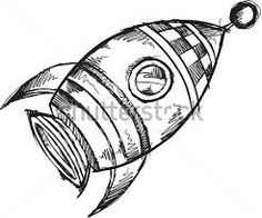 flying saucer clipart black and white.