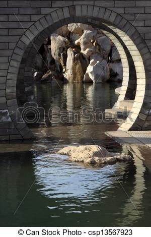 Stock Photo of Chinese traditional style landscape architecture.