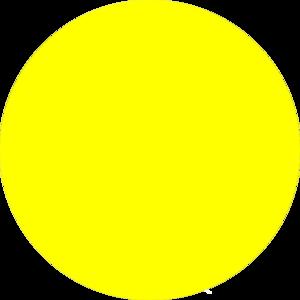 Yellow Crescent Moon Clipart.