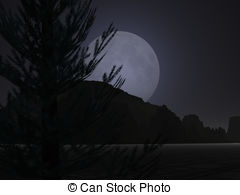 Moonset Stock Illustrations. 19 Moonset clip art images and.