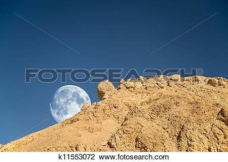 Clip Art of Moonset k11553072.