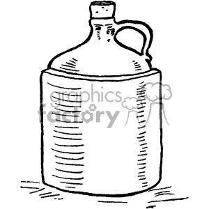vintage moonshine jug vector vintage 1900 vector art GF clipart.  Royalty.