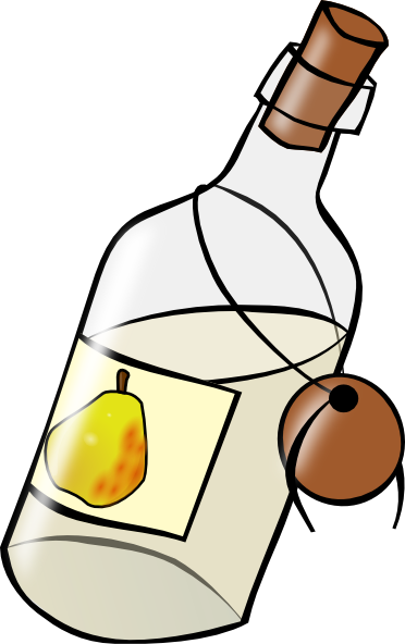 Bottle With Moonshine clip art Free Vector / 4Vector.