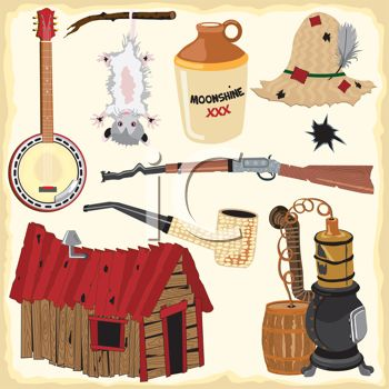 Moonshine People Clipart.