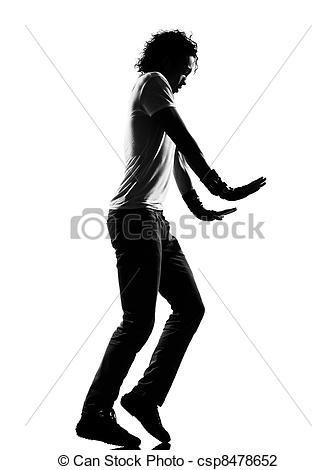 Stock Photo of hip hop funk dancer dancing moonwalk man.