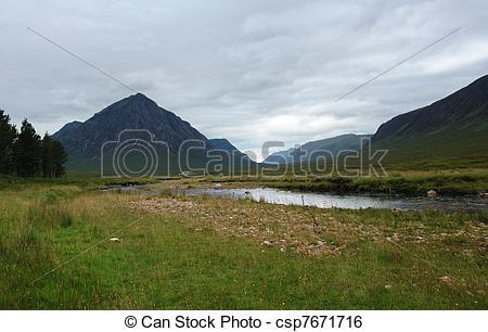 Stock Image of scottish Rannoch Moor.