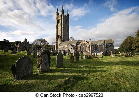Stock Photos of St Pancras Widecombe in the Moor Dartmoor.