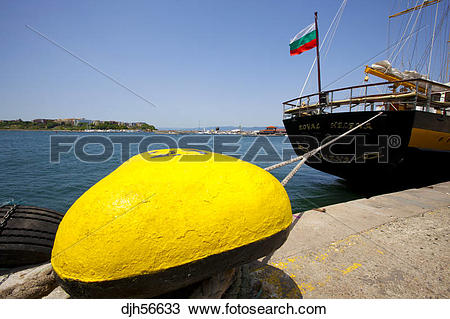 Stock Photo of Bulgaria, Europe, Black Sea, Nessebar, Seaport.