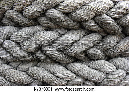 Stock Photography of Ships mooring cable or hawser k7373001.
